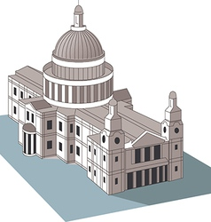 U S Capitol dome vector image