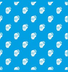 winter glove pattern seamless blue vector image