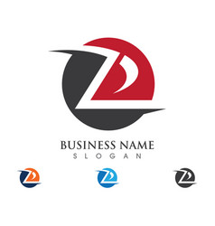 Z letter logo business template vector