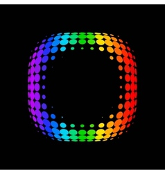 color dot background vector image