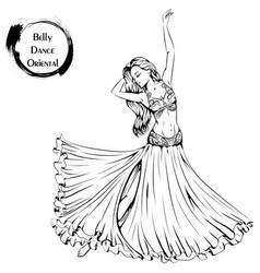 dance line belly dance vector image