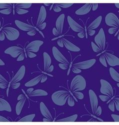 night moth butterflies seamless background vector image