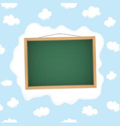 Blackboard hangs on a cloud vector image