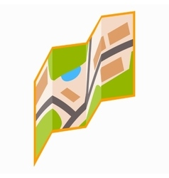 City map icon isometric 3d style vector image