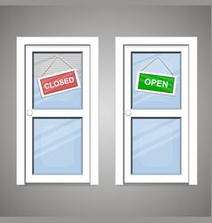 doors open closed vector image