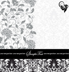 gray damask card vector image