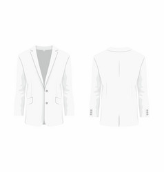 mens white business suit vector image