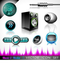 music and media vector image vector image