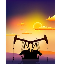 petrol pomp vector image