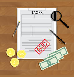 taxes paid concept vector image