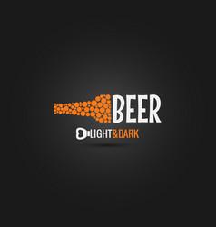 beer bottle opener design background vector image