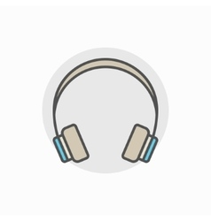 Colorful headphone icon vector image vector image