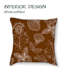 design cushions home interior throw pillows vector image