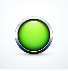 green round button vector image