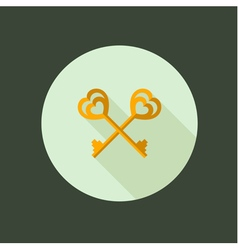 key couple circle icon flat design vector image