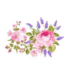 spring flowers garland vector image