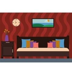 Bedroom Interior vector image vector image