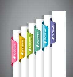 Bookmark labels vector