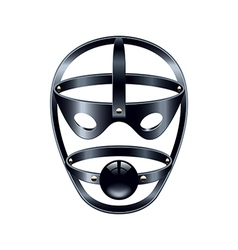Face mask with gag isolated on white vector image