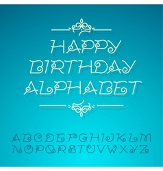 Hand-drawn alphabet letters happy birthday design vector image