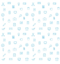 Office supplies seamless pattern Thin lines office vector image