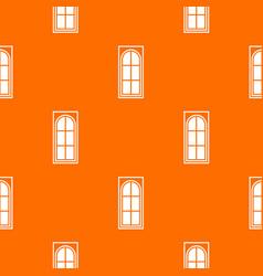 wooden door with glass pattern seamless vector image vector image