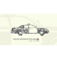 A car police interceptor USA vector
