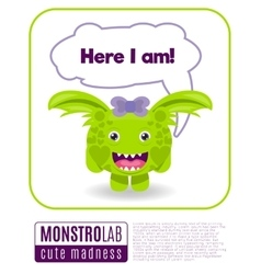 A monster saying here i am vector