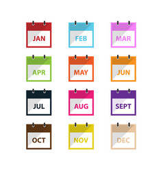 a month calendar icon in modern flat style vector image