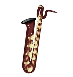A Musical Baritone Saxophone vector image