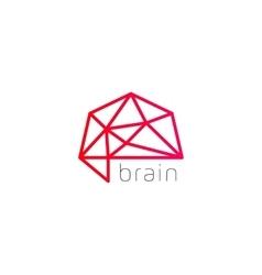 Abstract brain logo generate idea design template vector image