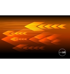 Abstract tech motion lines and arrows vector image
