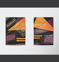 Abstract Triangle design Thai style Brochure Flyer vector image