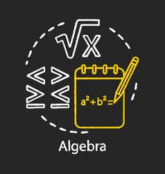 Algebra chalk concept icon algebraic equations vector