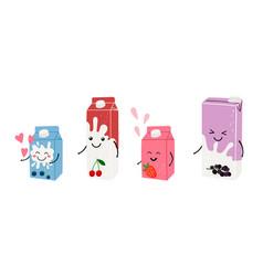 anime milk juice vector image