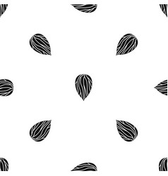 Apricot seed pattern seamless black vector