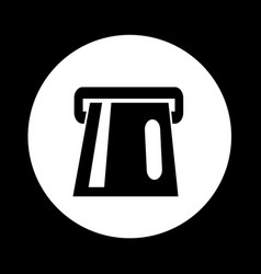 atm card slot icon design vector image