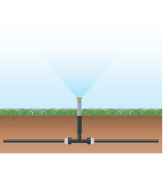 Automatic water irrigation system vector