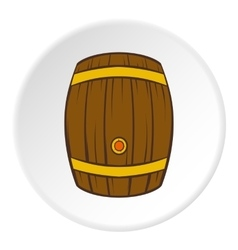 Barrel of beer icon cartoon style vector