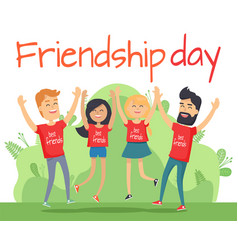 Best friends man and woman people holiday vector