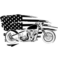 black silhouette chopper motorcycle vector image