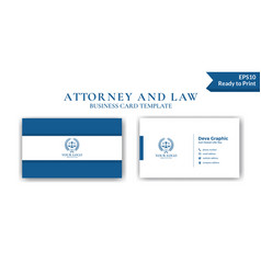 Blue law business card design template vector