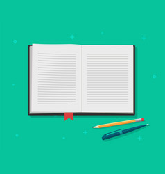 book open diary textbook text pages vector image