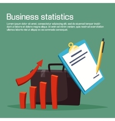 Business statistic or analytics with carts vector
