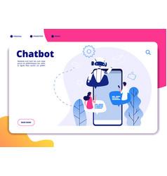 chatbot robotics chatterbot smart robotical vector image