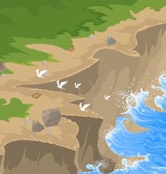 Cliff scene vector