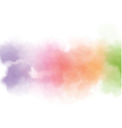 colorful rainbow watercolor wet splash background vector image