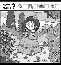 counting game for preschool children princess and vector image