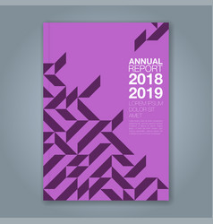 Cover annual report 861 vector