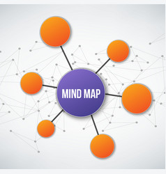 Creative of mind map vector